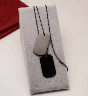 Lant inox Army(Dog Tag) BLACK cod 1016F